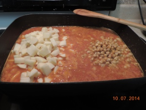 Added in the roasted chickpeas
