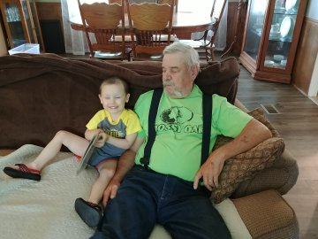 Hanging out with Papa.